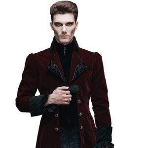 Gothic Vintage 3-Piece Suit Tailcoat Shirts Pants